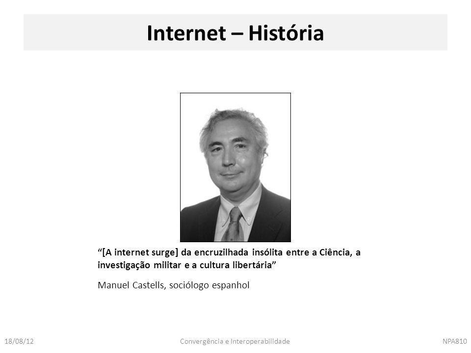 Internet – História [A internet surge] da encruzilhada insólita entre a Ciência, a investigação militar e a cultura libertária